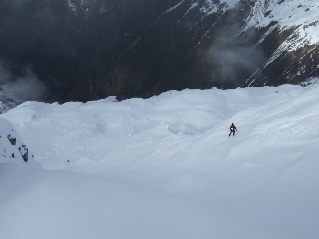 Mt Earnest SE Ridge, Note the other skier at far left down below