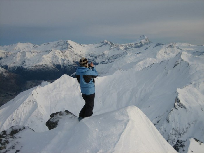Views from summit of Alta out to Mt Aspiring