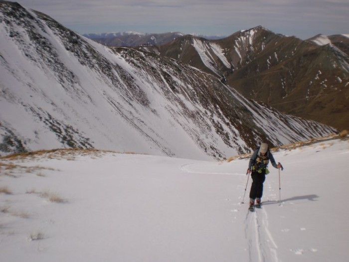 At about 1400m, East basin Mt Melina