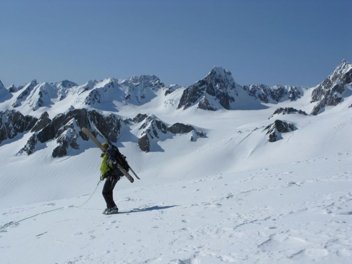 Looking back to pass at Pencke Ridge from the Sollas Ridge