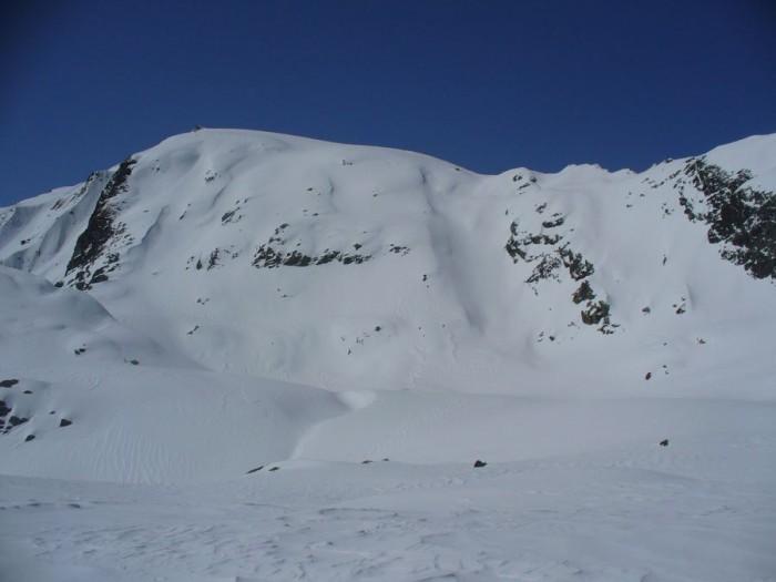 Looking south towards Mt Roon (hidden) from the Baumann Gl.