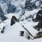 Top of couloir - summit slopes