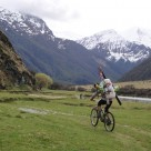 Cycling in to Mt Barff and Aspiring Hut