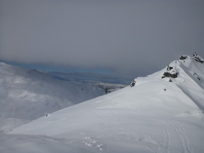 On the Col to SE of peak 2035, Doolans Backcountry