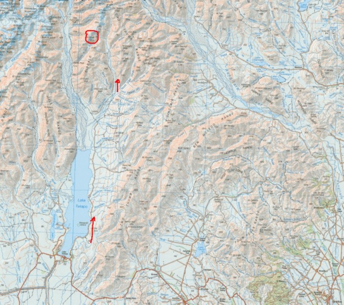 Map overview Mt Sibbald