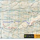 Map Old Man Range Ski Tour