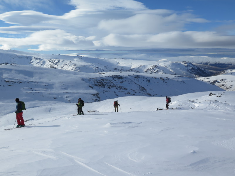 Touring in the eastern Garvie Mountains
